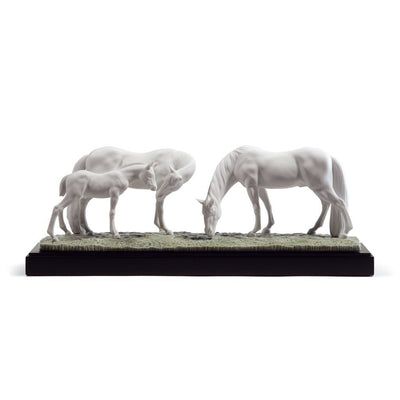 Lladro Porcelain Horses In The Meadow Figurine Figurines Lladro