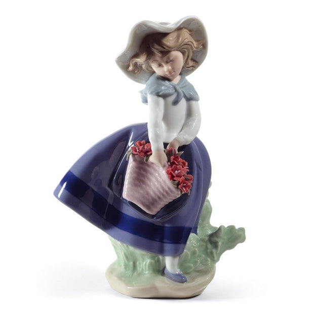 Lladro Porcelain Pretty Pickings Figurine Carnations Figurines Lladro