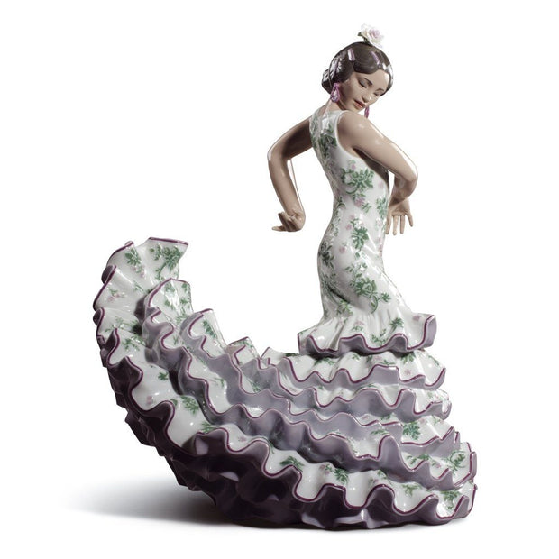 Lladro Porcelain Flamenco Flair, Green / Purple Figurine LE 250 Figurines Lladro