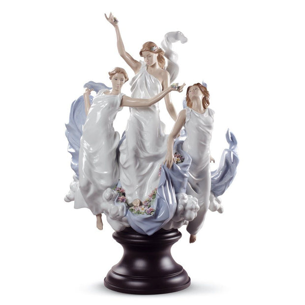 Lladro Porcelain Celebration Of Spring Figurine LE 1000 Figurines Lladro