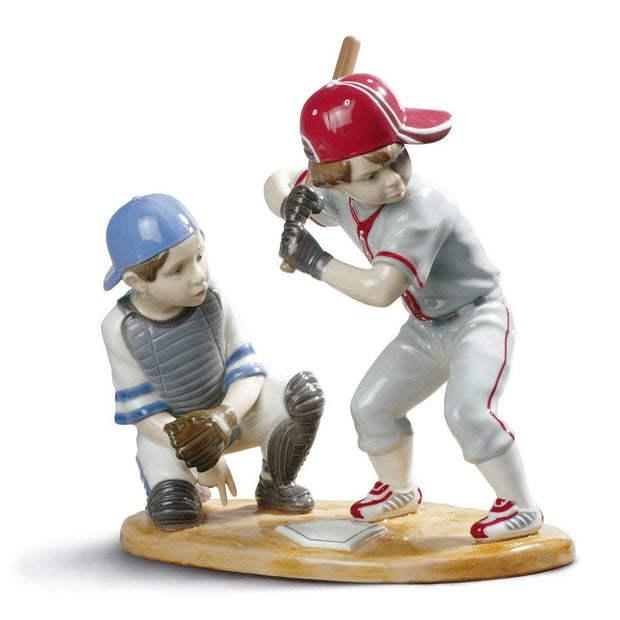 Lladro Porcelain Baseball Players Figurine Figurines Lladro