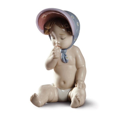 Lladro Porcelain Girl With Bonnet Figurine Figurines Lladro
