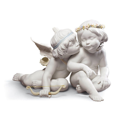 Lladro Porcelain Eros And Psyche Figurine Figurines Lladro