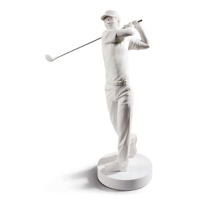 Lladro Porcelain Golf Champion Figurine White Figurines Lladro