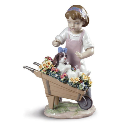 Lladro Porcelain Let's Go For A Ride Figurine Figurines Lladro