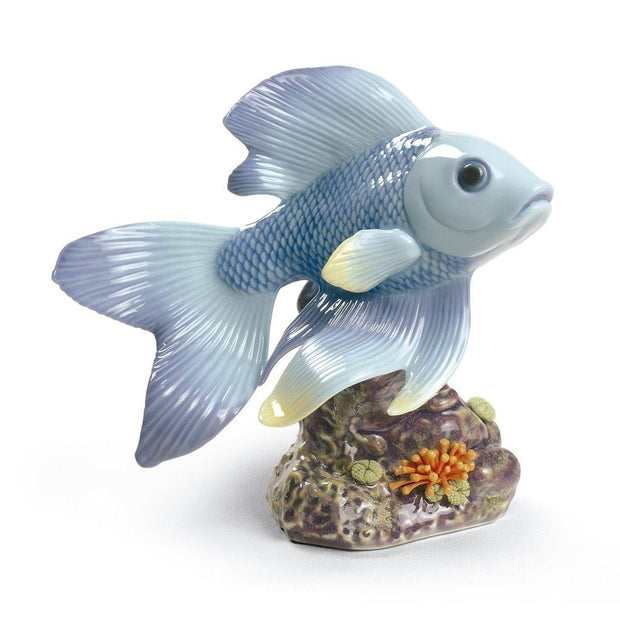 Lladro Porcelain Pond Dreamer Figurine Blue Figurines Lladro