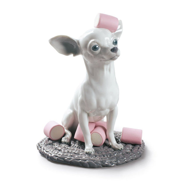 Lladro Porcelain Chihuahua With Marshmallows Figurine Figurines Lladro