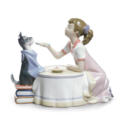 Lladro Porcelain Tea Time Figurine Figurines Lladro