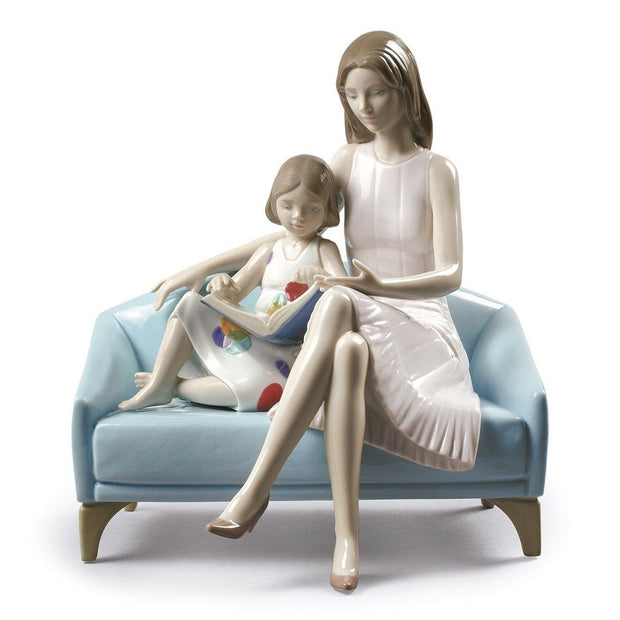 Lladro Porcelain Our Reading Moment Figurine Figurines Lladro