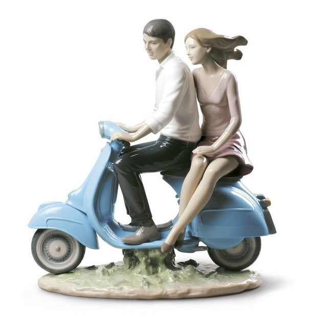 Lladro Porcelain Riding With You Figurine Figurines Lladro