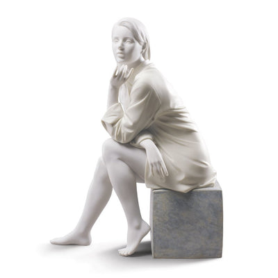 Lladro Porcelain In My Thoughts Figurine Figurines Lladro