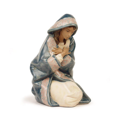 Lladro Porcelain Mary Figurine Gres Finish Figurines Lladro