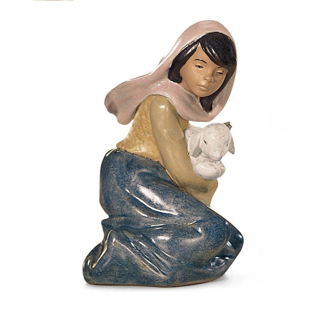 Lladro Porcelain Lost Lamb Figurine Gres Finish Figurines Lladro