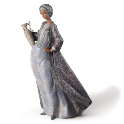 Lladro Porcelain Waters Of The Oasis Figurine Gres Finish Figurines Lladro