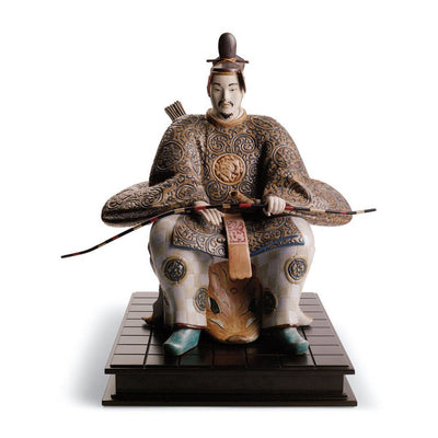 Lladro Porcelain Japanese Nobleman I Figurine Gres Finish LE 1500 Figurines Lladro