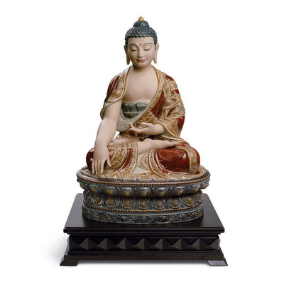 Lladro Porcelain Shakyamuni Buddha, Earth Figurine Gres Finish LE 1000 Figurines Lladro