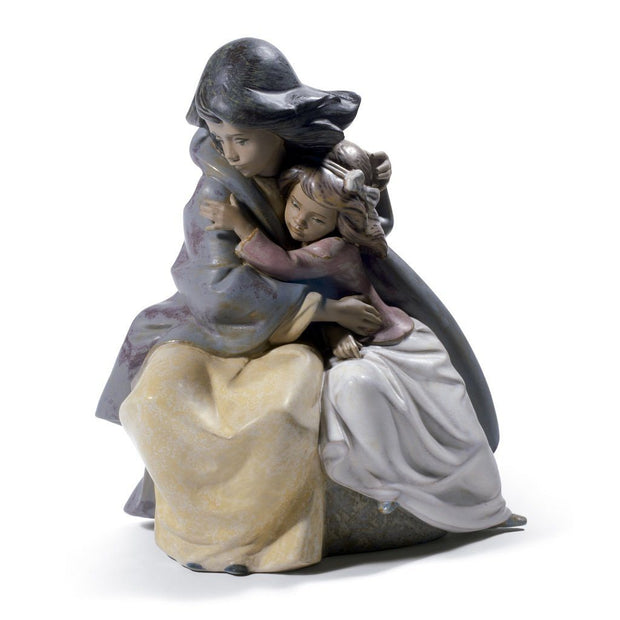Lladro Porcelain Sisterly Love Figurine Gres Finish Figurines Lladro