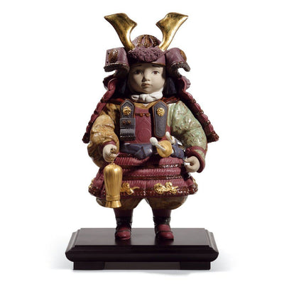 Lladro Porcelain Warrior Boy Figurine Gres Finish LE 3500 Figurines Lladro