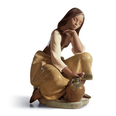 Lladro Porcelain Classic Water Carrier Figurine Gres Finish Figurines Lladro