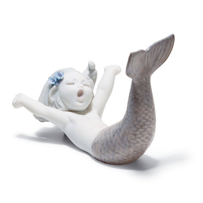 Lladro Porcelain Waking Up At Sea Figurine Figurines Lladro