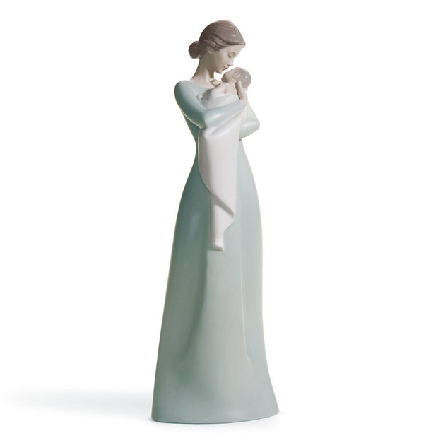 Lladro Porcelain A Mother's Embrace Figurine Figurines Lladro
