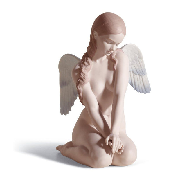 Lladro Porcelain Beautiful Angel Figurine Figurines Lladro