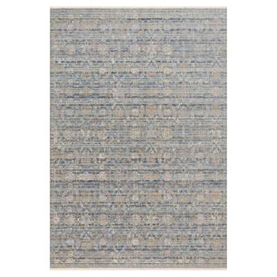 "Loloi Claire CLE 03 Ocean / Gold Area Rug Rugs Loloi 2' 7"" x 8' Runner"