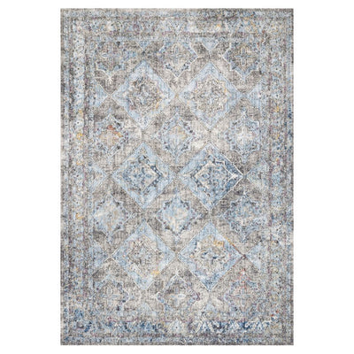 "Loloi II Dante DN 03 Granite / Lt. Blue Area Rug Rugs Loloi II 2' 6"" x 4' Rectangle"