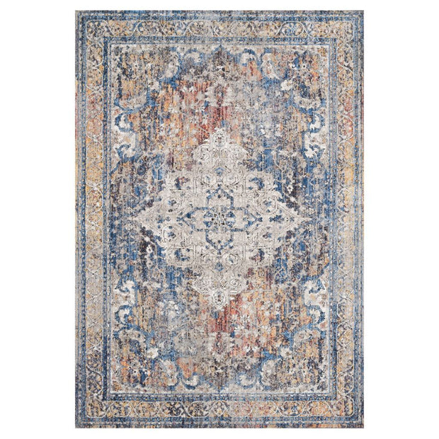 "Loloi II Dante DN 04 Multi / Stone Area Rug Rugs Loloi II 2' 6"" x 4' Rectangle"