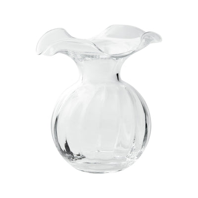 Vietri Hibiscus Glass Clear Small Fluted Vase Dinnerware Vietri