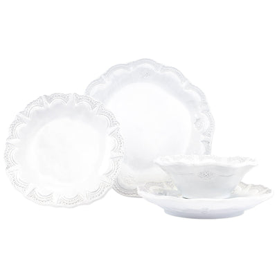 Vietri Incanto Lace Four-Piece Place Setting Dinnerware Vietri