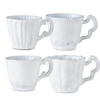 Vietri Incanto Assorted Mugs - Set of 4 Dinnerware Vietri