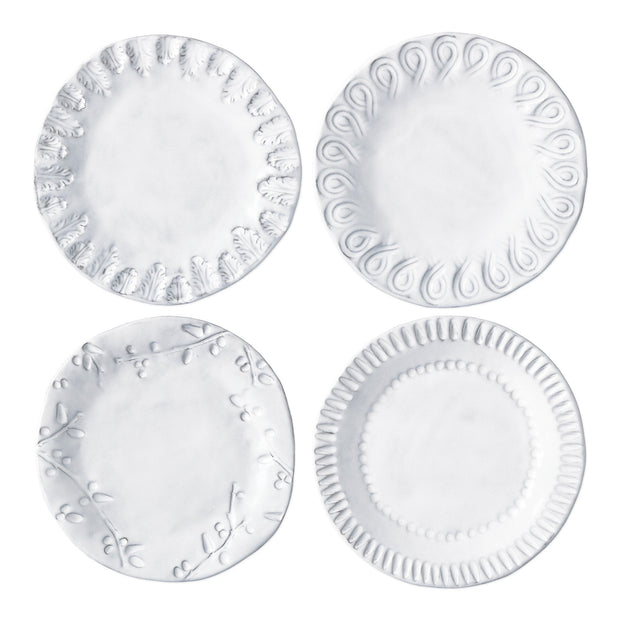 Vietri Incanto Assorted Canape Plates - Set of 4 Dinnerware Vietri