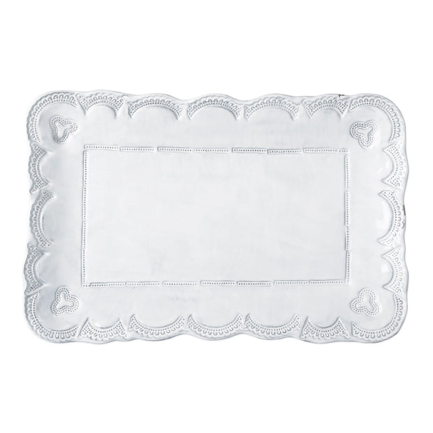 Vietri Incanto Lace Small Rectangular Platter Dinnerware Vietri