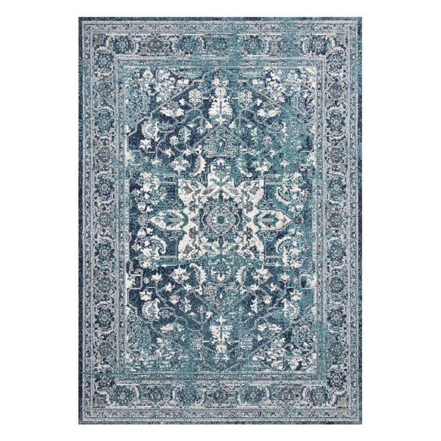 "Loloi Joaquin JOA 01 Ocean / Ivory Area Rug Rugs Loloi 2' 7"" x 4' Rectangle"
