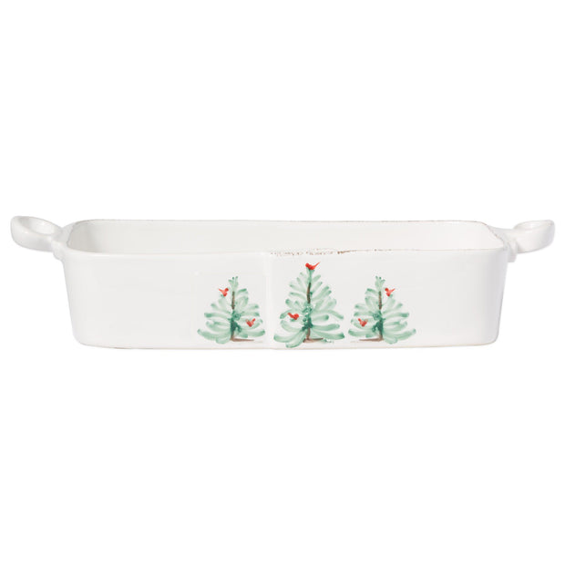 Vietri Lastra Holiday Rectangular Baker Dinnerware Vietri