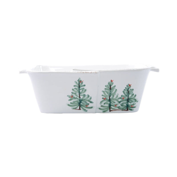 Vietri Lastra Holiday Loaf Pan Dinnerware Vietri