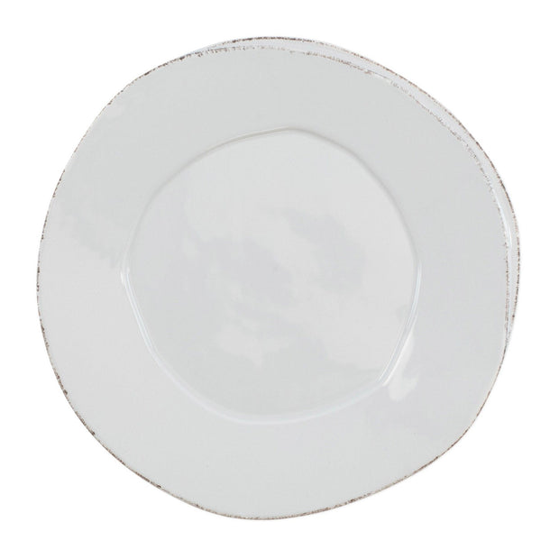 Vietri Lastra American Dinner Plate Dinnerware Vietri Light Gray
