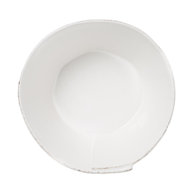 Vietri Lastra White Large Stacking Serving Bowl Dinnerware Vietri