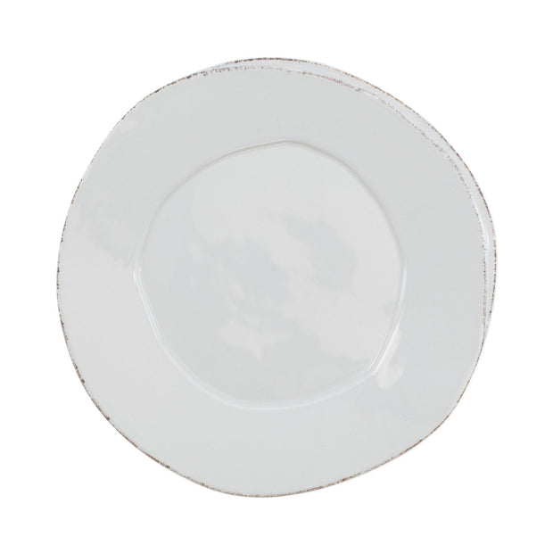 Vietri Lastra European Dinner Plate Dinnerware Vietri Light Gray