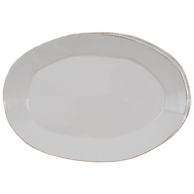 Vietri Lastra Oval Platter Dinnerware Vietri Light Gray