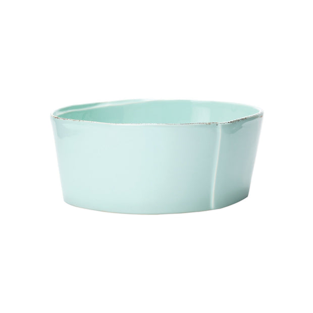 Vietri Lastra Medium Serving Bowl Dinnerware Vietri Aqua