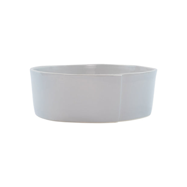 Vietri Lastra Medium Serving Bowl Dinnerware Vietri Light Gray