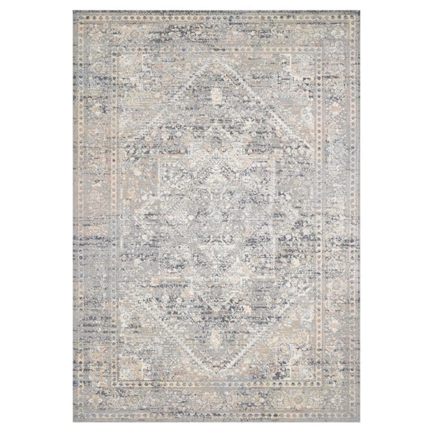 Loloi II Lucia LUC 01 Grey / Sunset Area Rug Rugs Loloi II 2' x 3' Rectangle