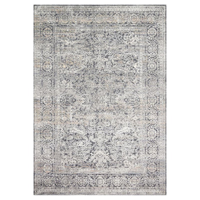 Loloi II Lucia LUC 03 Steel / Ivory Area Rug Rugs Loloi II 2' x 3' Rectangle