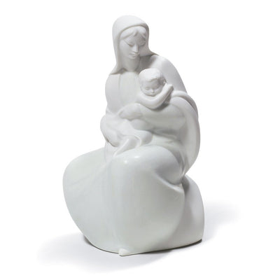 Lladro Porcelain Blessed Mother With Jesus Figurine Figurines Lladro