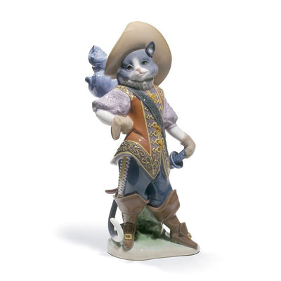 Lladro Porcelain Puss In Boots Figurine Figurines Lladro