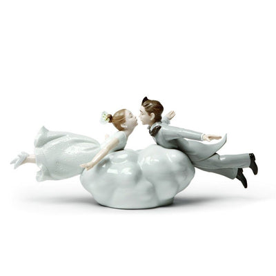 Lladro Porcelain Wedding In The Air Couple Figurine Figurines Lladro