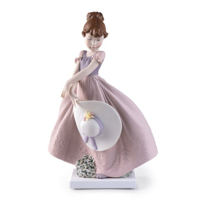 Lladro Porcelain 2021 Annual Piece Straw Hat In The Wind Figurines Lladro
