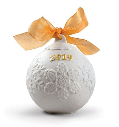 Lladro Porcelain 2019 Ball Christmas Ornament (Re-Deco Gold) Christmas Ornaments Lladro